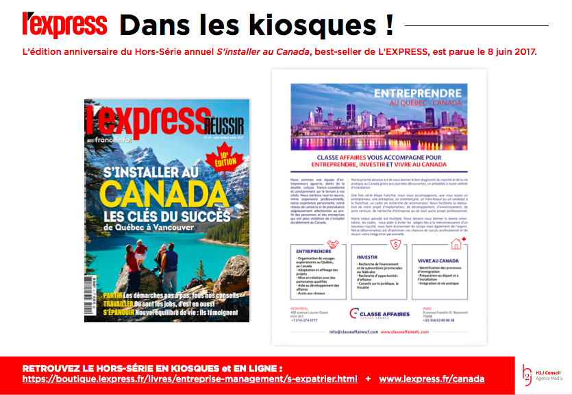 Le journal l'Express : immigrer au Canada
