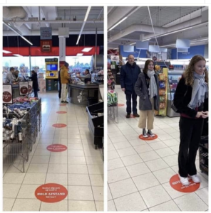 Distanciation sociale en magasin